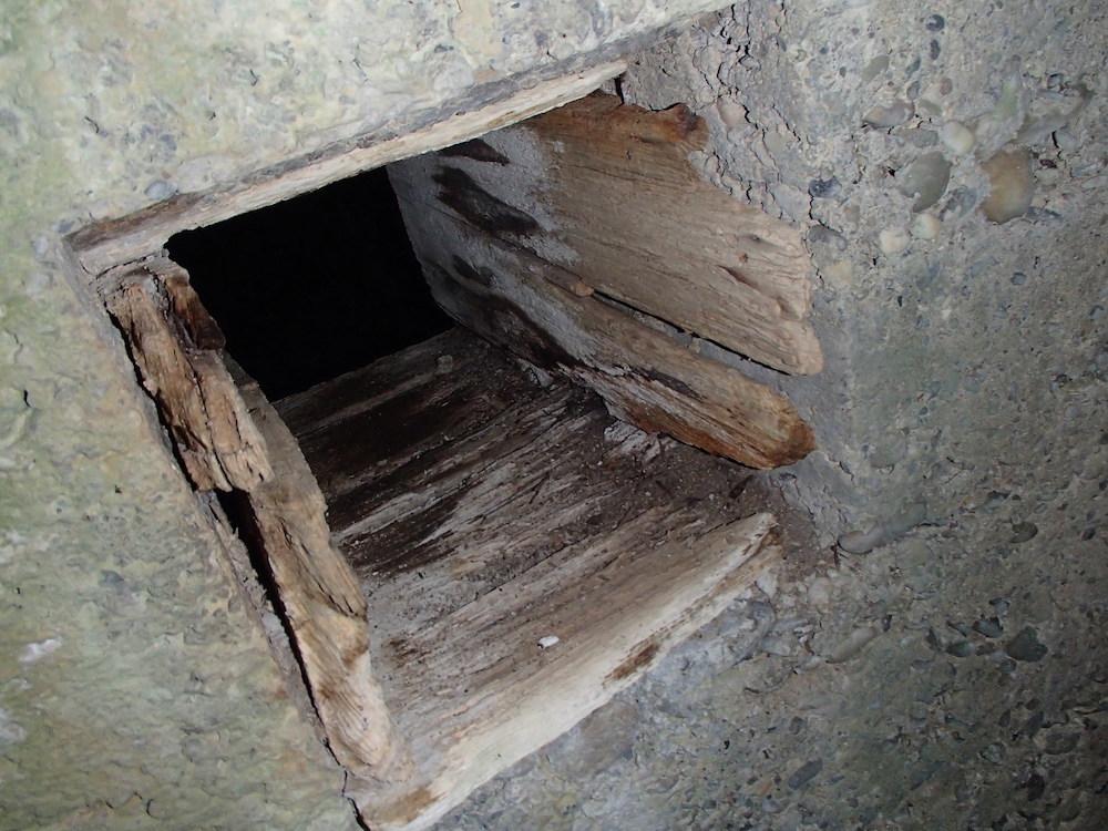 Alcôve à munitions dans le bunker Stützpunkt 3