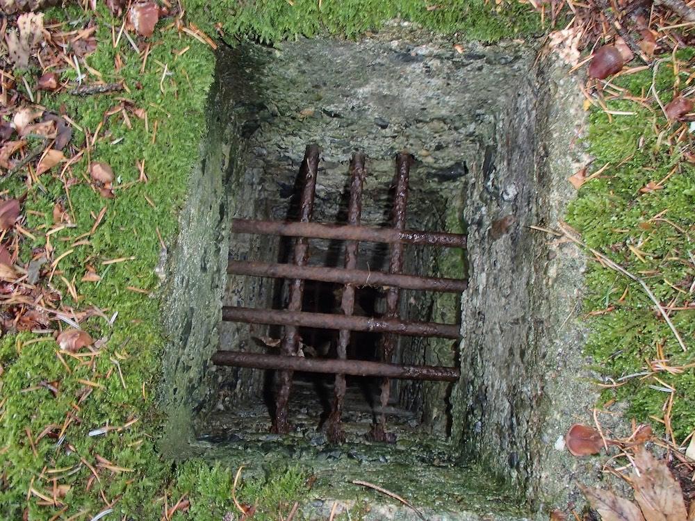 La bouche d'aération du bunker SP3