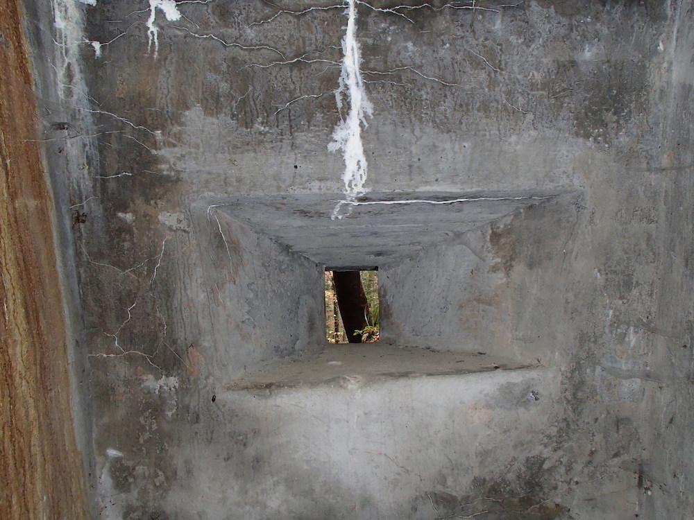 Meurtrière du SP3 depuis l'intérieur du bunker