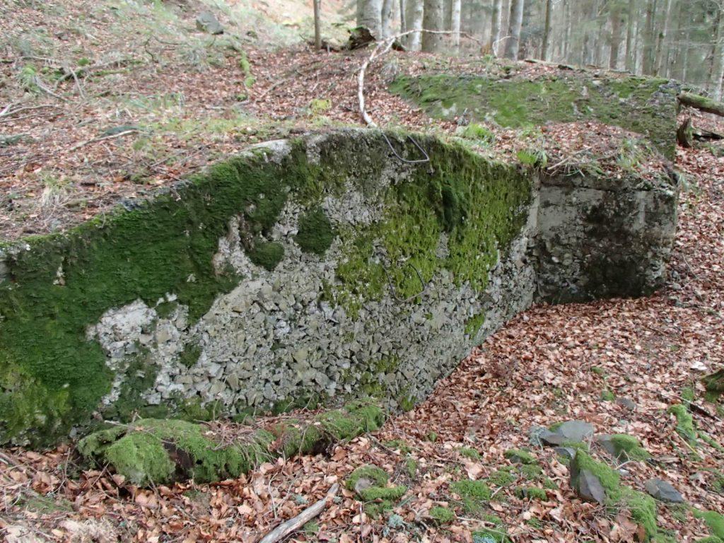 Côté du bunker du SP4