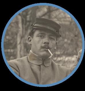 Photographie de Louis Hunold, combattant de la Première Guerre Mondiale.
