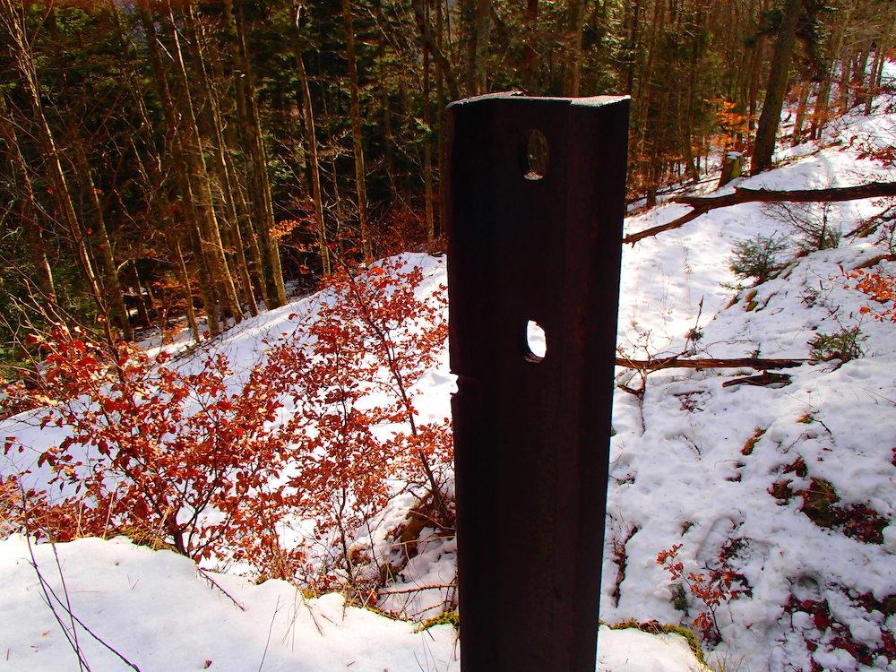 Poteau du poste de mitrailleuse au SP Rehkopf