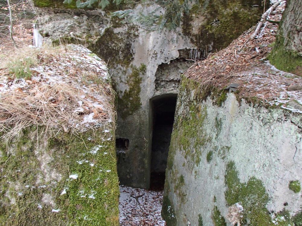 L'entrée principale du bunker au Stützpunkt 5