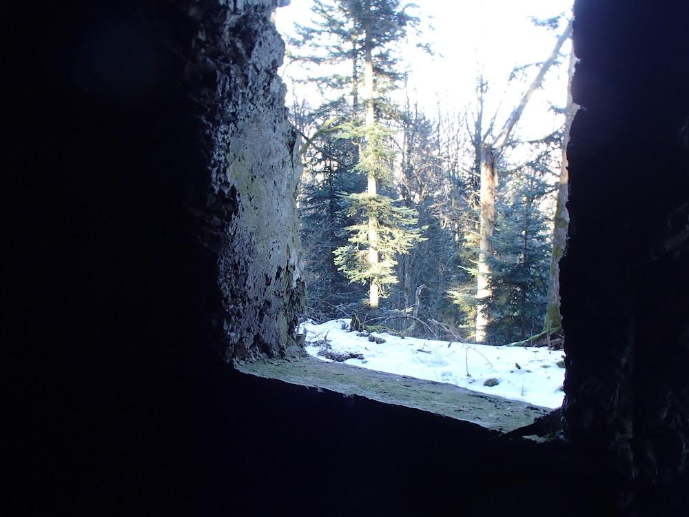Fenêtre du bunker du Stütpunkt 00