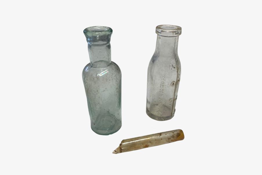Petites fioles pour médicaments de 1914-1918