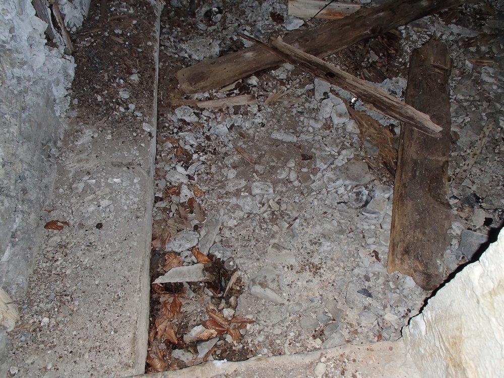 Vue à l'intérieur du bunker du Stützpunkt 5