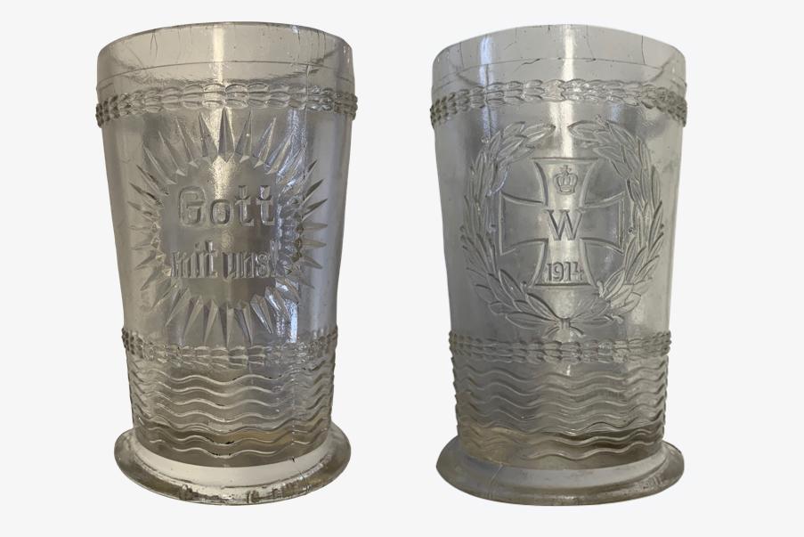 Pot à moutarde décorés de la première guerre mondiale