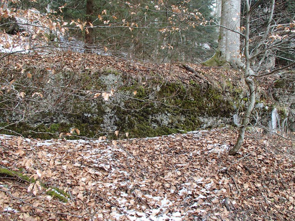 Le côté est du bunker du Stützpunkt 5