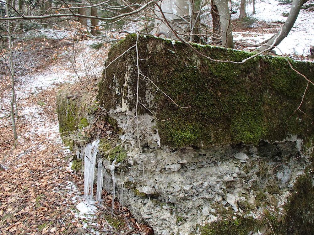 Le côté ouest du bunker du Stützpunkt 5