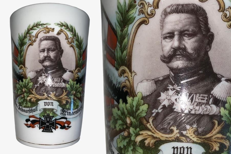 Verre en porcelaine Paul von Hindenburg