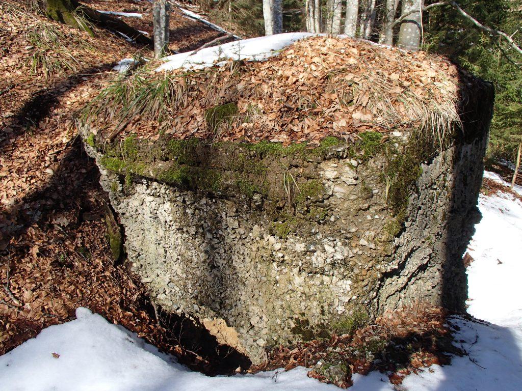 Arrière du petit bunker Allemand autour du SP6