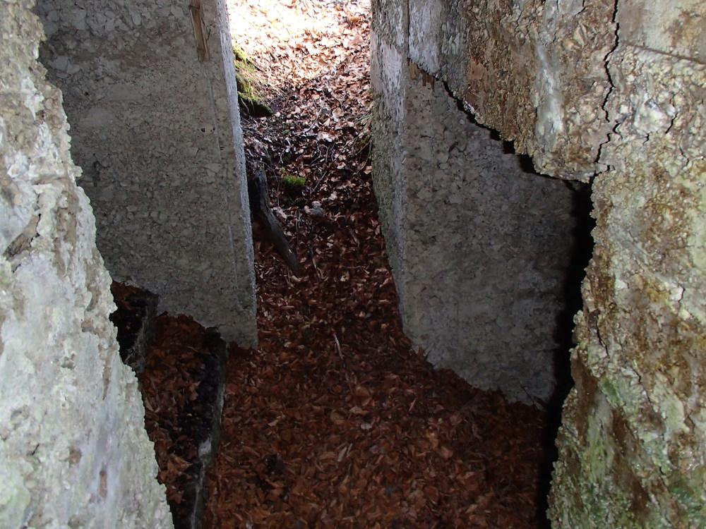 L'entrée du SP7 vue de l'intérieur