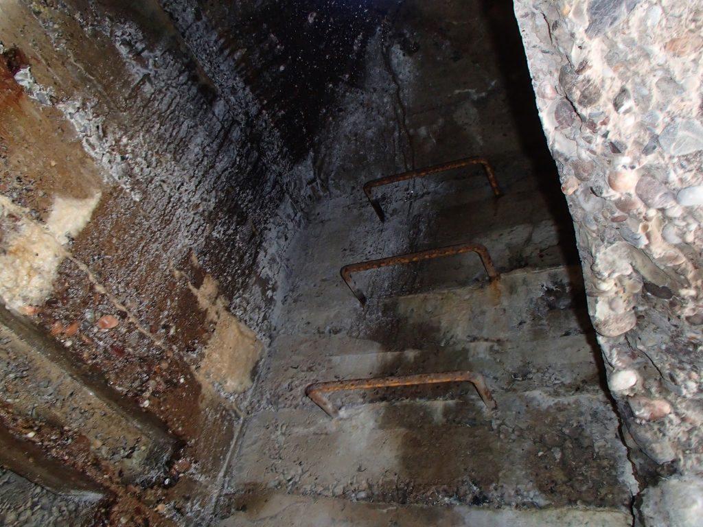 Intérieur du bunker Allemand du SP6