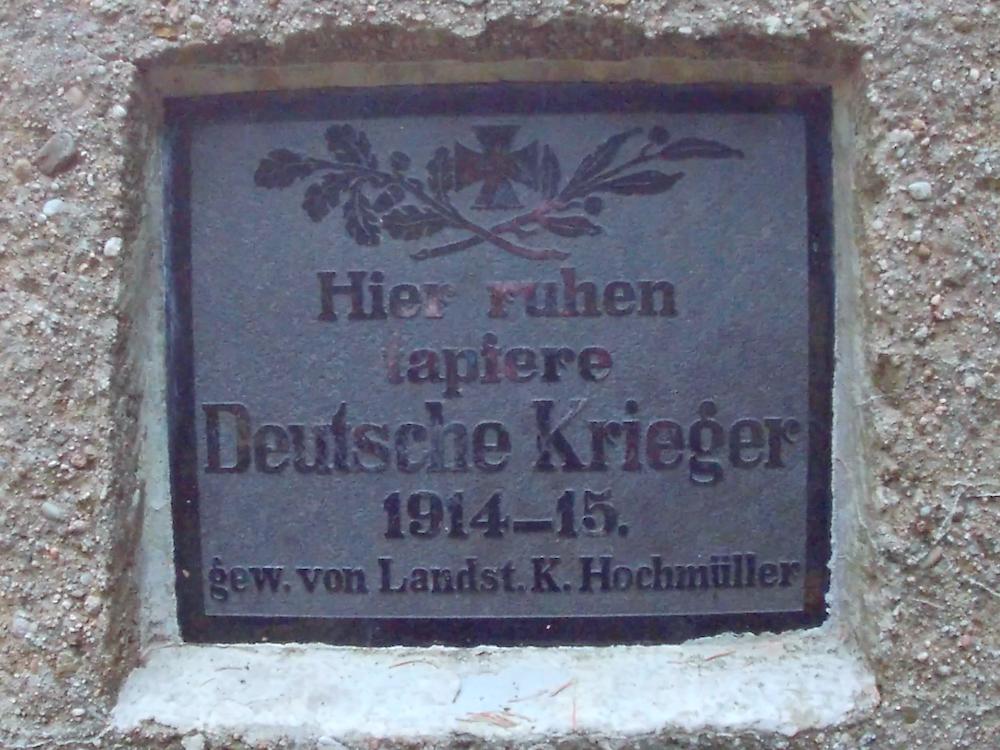Plaque du mémorial au cimetière du Holzwasen