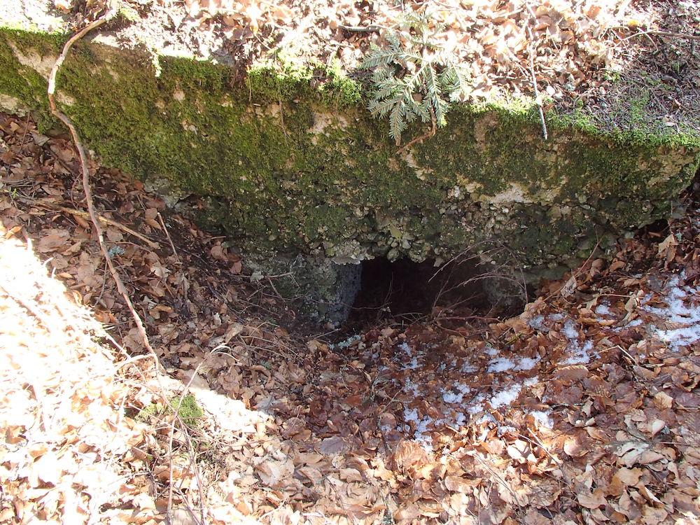 Une autre chatière du bunker au Stützpunkt 7