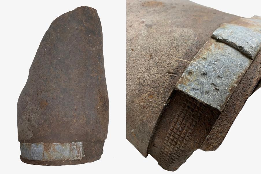 Ceinture d'obus sur fragment
