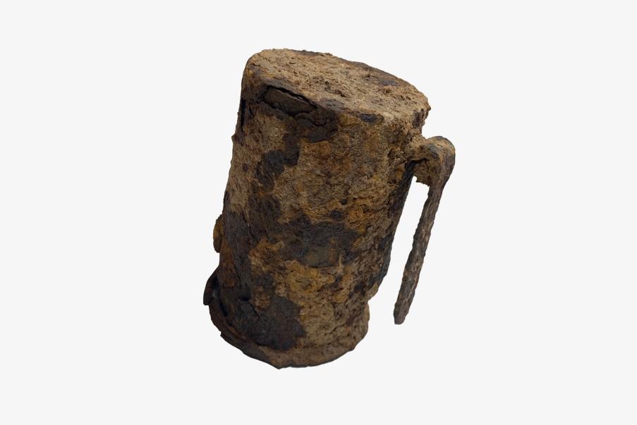 Cylindre métallique de la grenade à manche