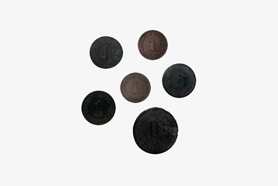 Pièces de monnaie Allemandes retrouvées au Sudel.