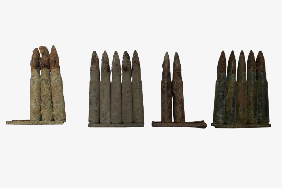Lames-chargeurs pour cartouches de fusil MAUSER.