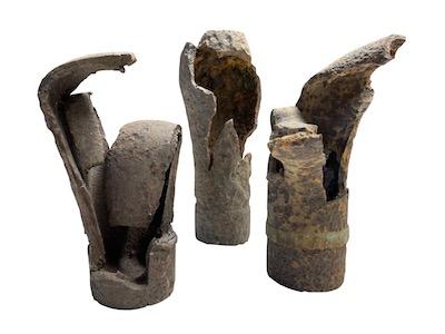 Vestiges de l'armement français et allemand retrouvés sur le champ de bataille du Sudel.
