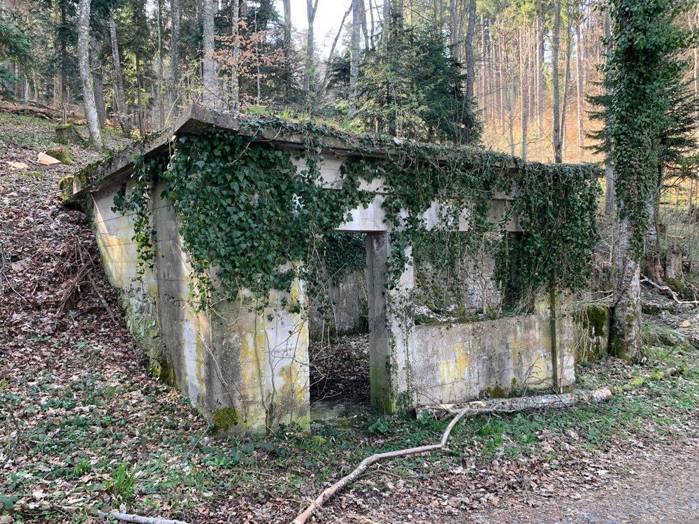 La cantine construite par les soldats Allemands au Holzwasen.
