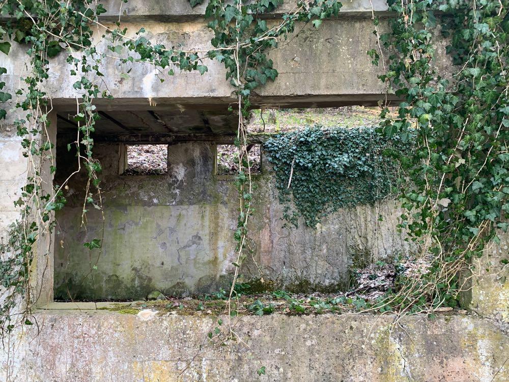 La fenêtre de la cantine militaire du Holzwasen.