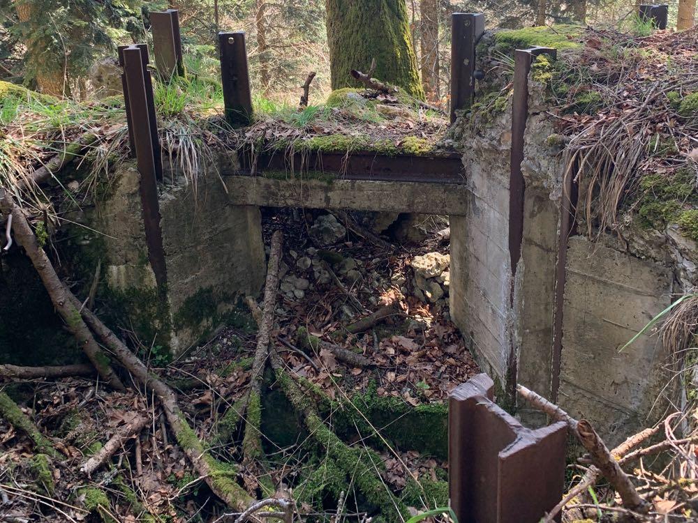 Poste de mitrailleuse du Holzwasen utilisé par les Allemands pour tirer en direction du Kohlschlag.