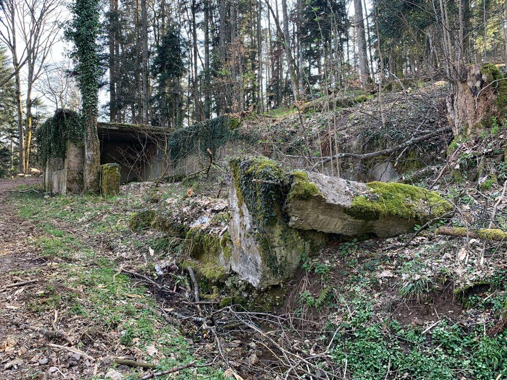 Grande cantine militaire allemande construite au Holzwasen en 1915.