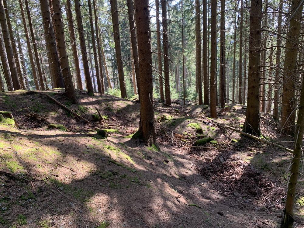Paysage tourmenté au sommet du champ de bataille du Sudel.