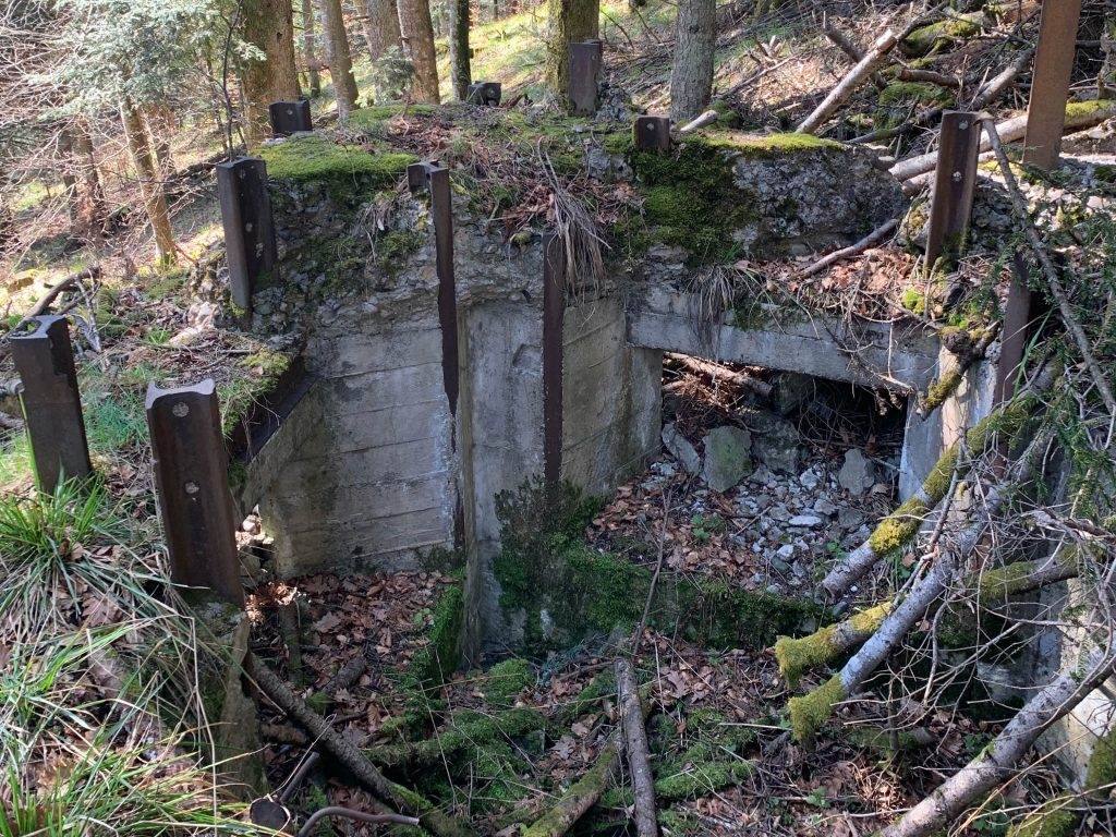 Un poste de mitrailleuse allemand situé au Holzwasen.