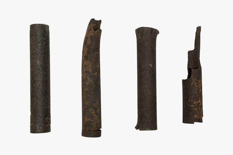 Différents fragments de queues de Crapouillots.
